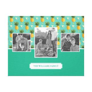 Toile Photos et texte de famille géométriques du motif |