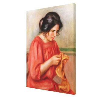Toile Pierre raccommoder de Renoir | Gabrielle