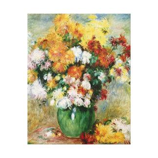 Toile Pierre un bouquet de Renoir | des chrysanthèmes