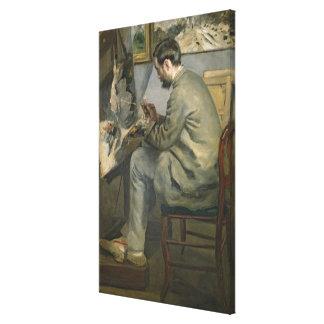 Toile Pierre un Renoir   Frederic Bazille à son chevalet