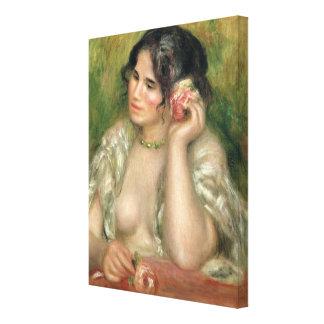 Toile Pierre un Renoir | Gabrielle avec un rose