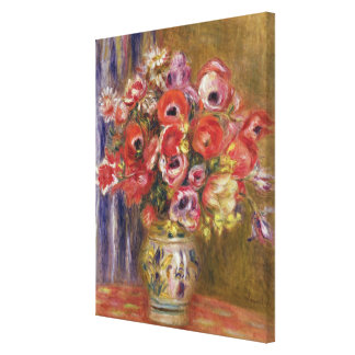 Toile Pierre un vase à Renoir | de tulipes et d'anémones