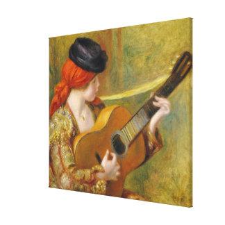 Toile Pierre une jeune femme espagnole de Renoir | avec