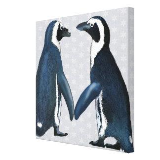 Toile Pingouins dans l'amour