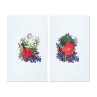 Toile Placez les paires de fleurs de cognassier du Japon