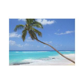 Toile Plage la Caraïbe de palmier