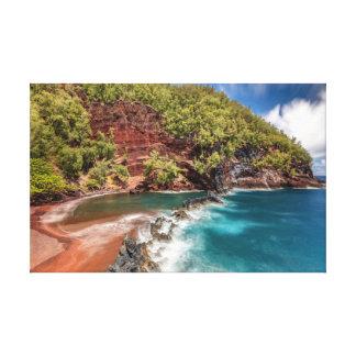 Toile Plage rouge Maui de sable