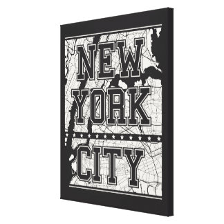 Toile Plan de ville de New York City |
