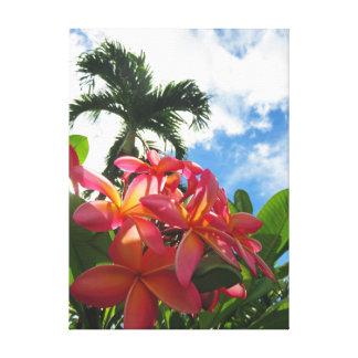 Toile Plumeria hawaïen