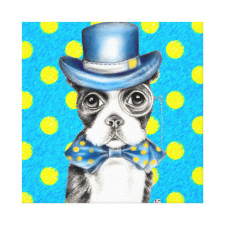 Toile Point de polka de Boston Terrier