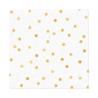 Toile Points modernes élégants de confettis de blanc et