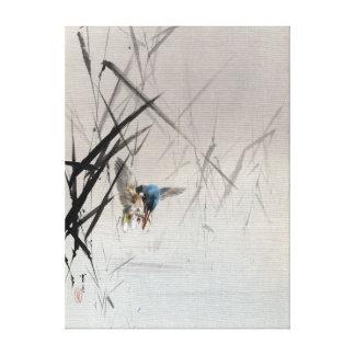 Toile Poissons contagieux d'oiseau de Watanabe Seitei