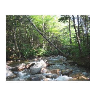Toile Pont de rivière de Pemigewasset au New Hampshire