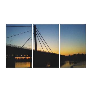Toile Pont d'or sur Rhein au-dessus de coucher du soleil
