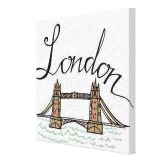Toile Pont en lettres 2 de Londres de main