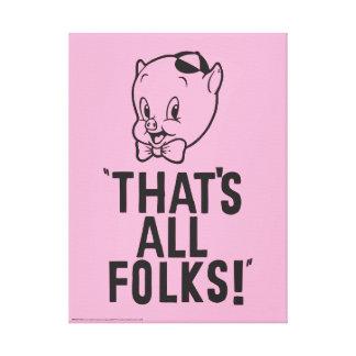 """Toile Porc gros classique """"qui est tous les gens ! """""""