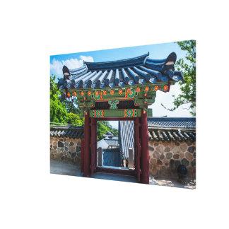 Toile Porte coréenne de temple