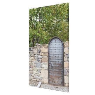 Toile Porte et mur en métal