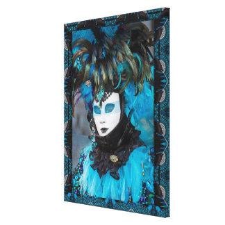 Toile Portrait artistique de costume de carnaval, Venise