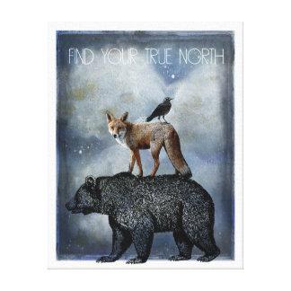 Toile Portrait d'animal de nord vrai