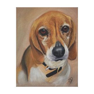 Toile Portrait d'animal familier d'illustration de chien