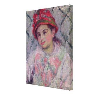Toile Portrait de Claude Monet | de Blanche Hoschede