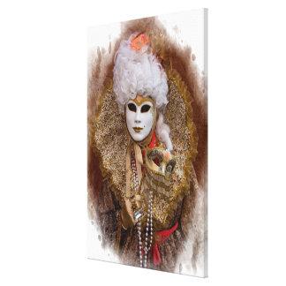 Toile Portrait de costume de carnaval, Venise