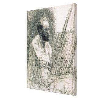 Toile Portrait de Manet | d'Edouard Manet à son chevalet
