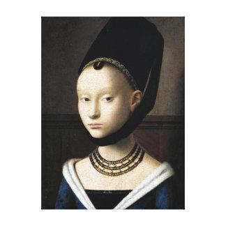 Toile Portrait de Petrus Christus d'une jeune femme