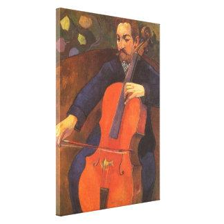 Toile Portrait de Schneklud de joueur par Paul Gauguin