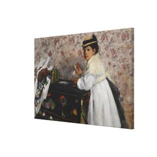 Toile Portrait d'Edgar Degas   de Mlle. Hortense
