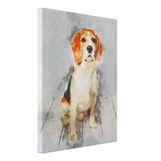 Toile Portrait mignon de beagle