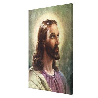 Toile Portrait religieux vintage, Jésus-Christ avec le