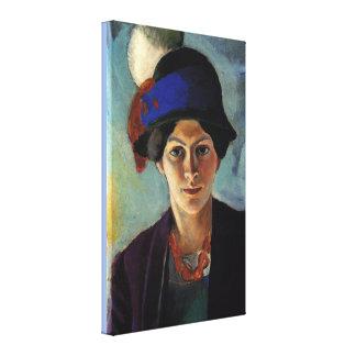 Toile Portrait vintage de l'épouse de l'artiste avec un