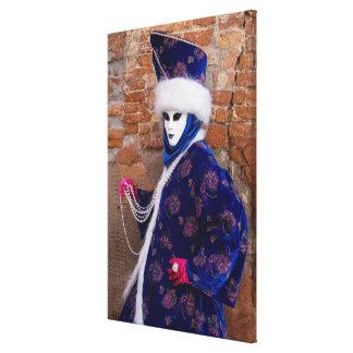 Toile Posant dans le costume de carnaval, Venise