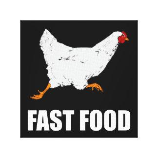Toile Poulet courant les aliments de préparation rapide