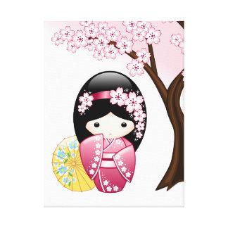 Toile Poupée de Kokeshi de ressort - fille de geisha