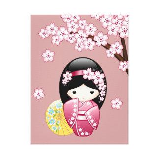 Toile Poupée de Kokeshi de ressort - geisha japonais