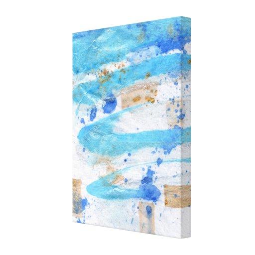 toile pour aquarelle abstraite de texture des toile tendue sur ch ssis zazzle. Black Bedroom Furniture Sets. Home Design Ideas