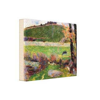 Toile Pré aux banques d'Aven par Paul Gauguin
