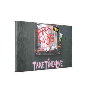 Toile Prenez du temps pour le graffiti de photographie
