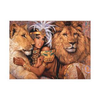 Toile Princesse égyptienne Canvas Art de déesse de lion