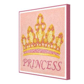 Toile Princesse ornée de bijoux Crown par Chariklia