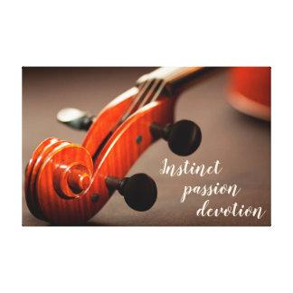 Toile principale d'inspiration de violon