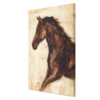 Toile Profil de cheval sauvage de Brown