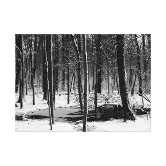 Toile Promenade d'hiver