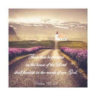 Toile Psaumes : Planté dans la Chambre du seigneur Verse