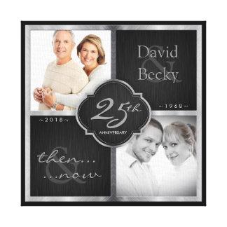 Toile Puis et maintenant 25ème anniversaire de mariage