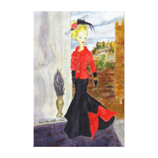 Toile Quartier français :  Aquarelle de MatisseFashion