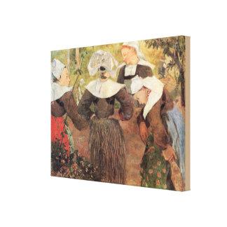 Toile Quatre femmes bretonnes par Paul Gauguin
